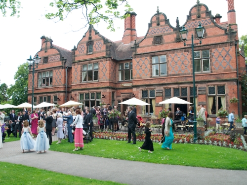 Chester garden wedding